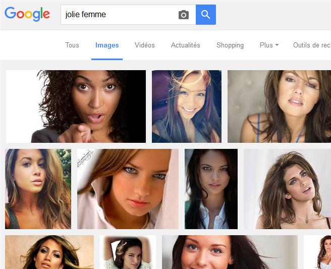 Résultat de recherche de Google Images